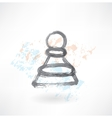 chess pawn grunge icon vector image