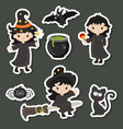 cute little witch cute little witch vector image