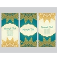 greeting cards in east style on blue background vector image