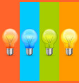 lamp idea icon set object light vector image