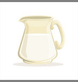 milk in a glass jug vector image