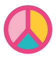 peace and love symbol pastel color patch vector image