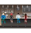 people set sitting in restaurant cafe or bar vector image