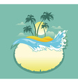 Landscape of Tropical Banner vector image vector image