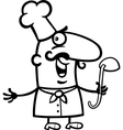 cook or chef with ladle cartoon vector image