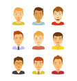 man avatar icons set male avatars vector image vector image
