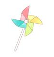 A view of pinwheel vector image vector image