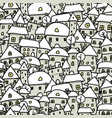 winter city sketch seamless pattern for your vector image vector image