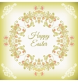 Spring cute floral frame vector image