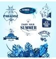 Sea travel labels vector image