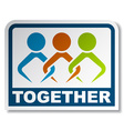 together joined people sticker vector image