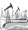 oil BW vector image