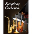 symphony ochestra design vector image vector image
