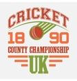 Cricket County Championship t-shirt vector image vector image