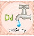 Flashcar of D is for drop vector image