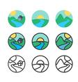 Ecology Logo Template vector image