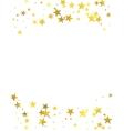 Gold glittering foil stars on white background vector image