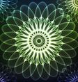 Green shining cosmic flower vector image
