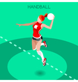Handball 2016 Summer Games Isometric 3D vector image