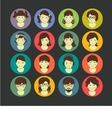 Avatars flat Juniors Girls vector image