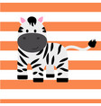 cartoon zebra print vector image