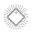 geometric label emblem decoration outlined vector image