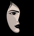 Glamor girl Celebrity vector image