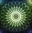 Green shining cosmic flower vector image