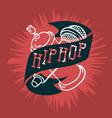 hip hop logo emblem sign label design with a vector image