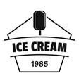 ice cream logo simple black style vector image
