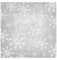 Vintage background with cutout paper snowflakes vector image