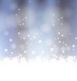 Winter Snow Background vector image