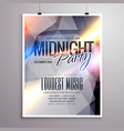 midnight music party flyer brochure template vector image