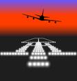 Landing lights vector image vector image