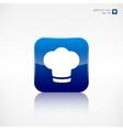 Chef cap icon Cooking cap vector image vector image