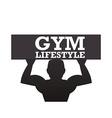 Healthy lifestyle design vector image