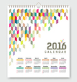 Calendar 2016 colorful geometric design vector image vector image