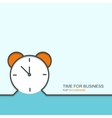 outline flat design of time for business vector image