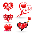 Love heart collection vector image