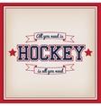 Ice Hockey Badge vector image