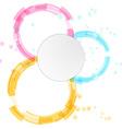Bright modern circle design elements background vector image