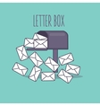full inbox email mailbox letter box flat icon vector image
