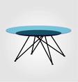 Modern glass coffee table vector image