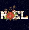 NOEL card vector image