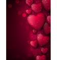 Valentines pink background vector image