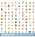100 beer icons set cartoon style vector image