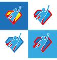 Superhero icon set vector image