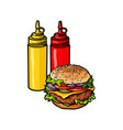 burger sketch isolated vector image