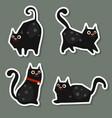 set of cute cats set of cute cats vector image