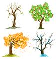 seasons of tree vector image